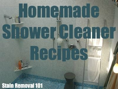 Homemade Shower Cleaner Recipes For Daily Use Heavy Duty
