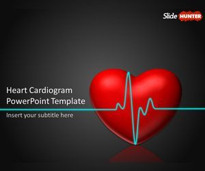 Free Animated Powerpoint Template With Heart Cardiogram Animation