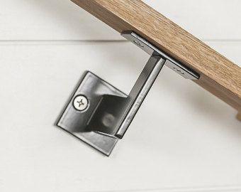 Minimal Handrail Bracket 1 2 Solid Steel Square Bar Etsy Handrail Brackets Handrail Step Railing