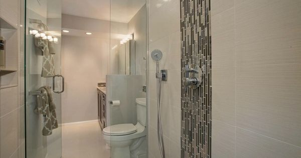 Vertical Accent Tile In Contemporary Shower From J Hill