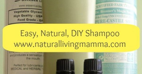 Easy, Natural, DIY Shampoo recipe. 10 most popular post of 2013! That