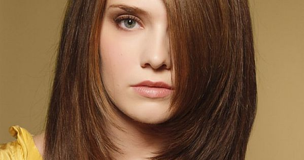 Dark Brown Hairstyles For Long Straight Hair With Side