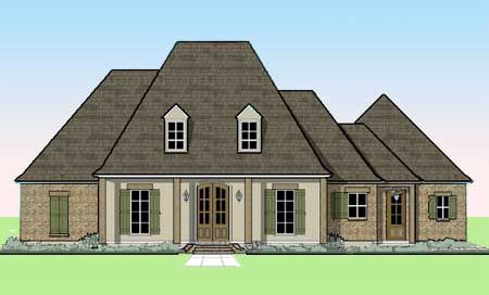 Plan 56338sm Louisiana Style Charmer In 2020 Acadian House Plans French Country House Plans Southern House Plans