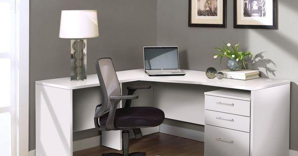 Jesper office white corner l shaped desk color white for Bedroom l shaped desks