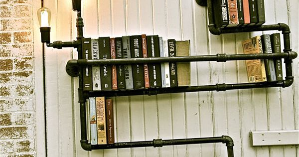 DIY: Steampunky Pipe Book Shelves