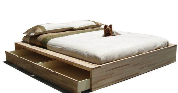 Letto contenitore matrimoniale in legno comodo by cinius for Letto contenitore design
