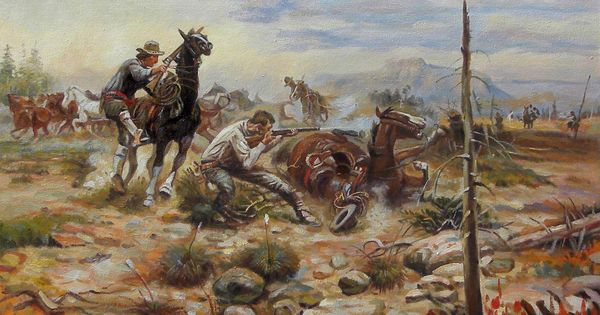 Quot When Horseflesh Comes High Quot Oil By Charles Russell