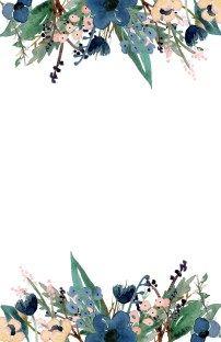 Blue Free Printable Invitation Templates Paper Trail Design Flower Background Wallpaper Free Printable Invitations Templates Flower Backgrounds