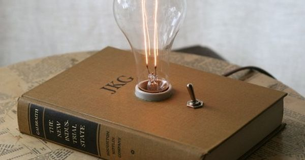#book art lamp