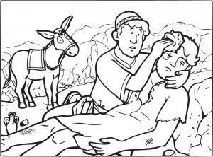 image regarding Good Samaritan Coloring Page Printable titled The Great Samaritan Colouring Bible: Jesus and His Parables
