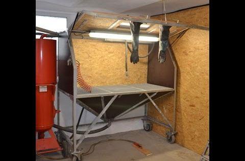 eigenbau sandstrahlkabine sandstrahler diy sandblasting cabinet sandblaster homemade youtube. Black Bedroom Furniture Sets. Home Design Ideas