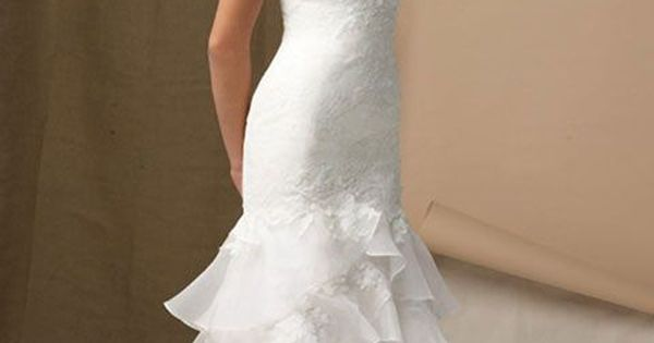 Mermaid Strapless Sweetheart Organza Wedding Dress Style 20168148