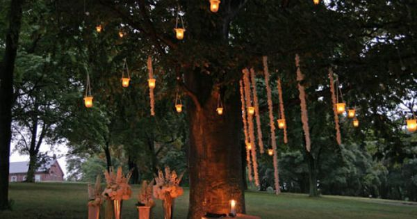 Candle Lit Christmas Lights And Lantern Wedding Candle Lit Tree Candle Lit Wedding Tree Lanterns Candle Light Wedding