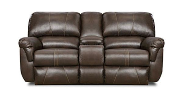 Simmons 174 Bucaneer Cocoa Reclining Console Loveseat At Big