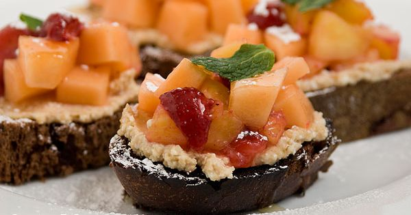 Cherry Hazelnut Bruschetta Dessert Recipes — Dishmaps