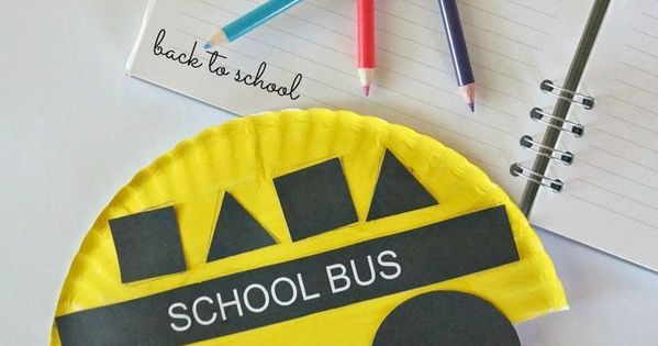 Back To School Crafts: Paper Plate School Bus Shapes Craft ...