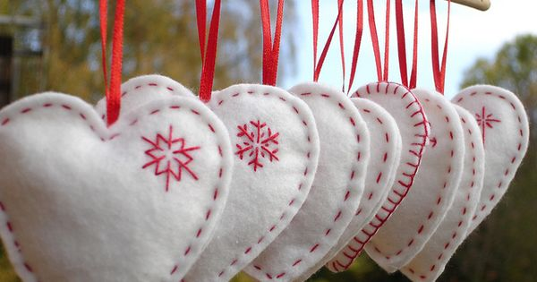 Hand warmers or decorations filled with spices (rosemary or lavender, or cinnamon/cloves,