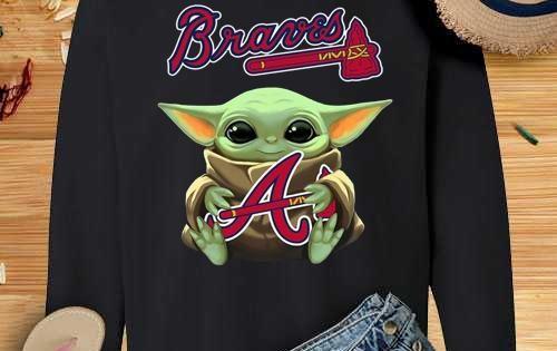 Baby Yoda Hug Atlanta Braves Crewneck Sweatshirthttps Teesusa Best Product Baby Yoda Hug Atlanta Brave Crew Neck Sweatshirt Sweatshirts High Quality T Shirts