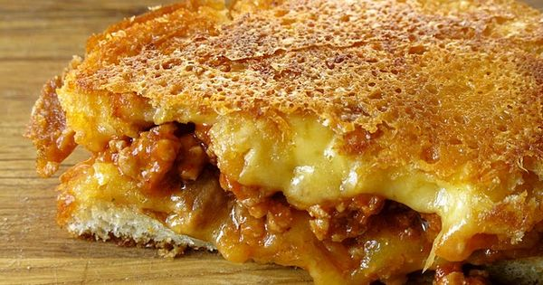 Sloppy Joe Grilled Cheese! Love the combo of the sloppy joe with