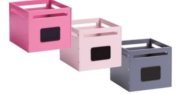 Lot de 2 bacs de rangement pour table langer gris imprim bonheur bo tes de rangement et for Boite rangement table a langer