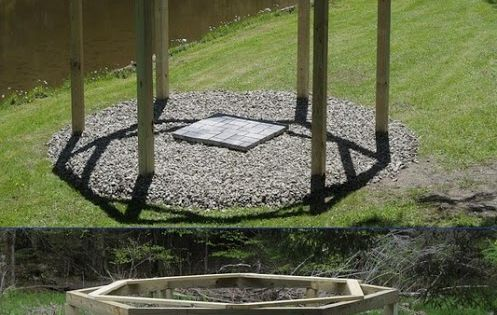 """""""Porch Swings"""" Around a Firepit. How wonderful!"""