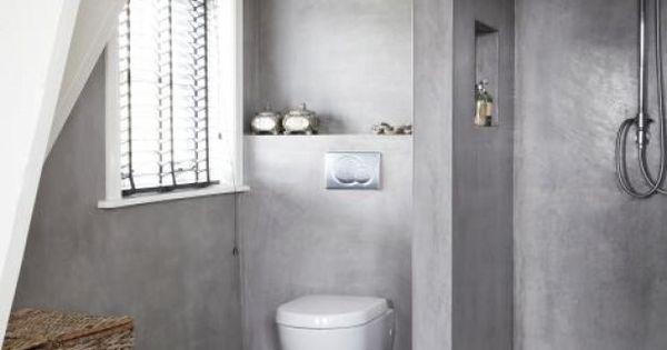 Badkamer inspiratie kleine badkamer met afgescheiden toilet door jas2507 en suite - Voorbeeld deco badkamer ...