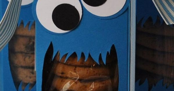 Cookie monster cookie box!! treat idea!