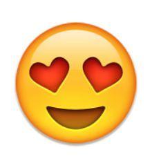 Visage Souriant Avec Des Yeux En Forme De Coeur Eyes Emoji Emoji Faces Emoji Stickers