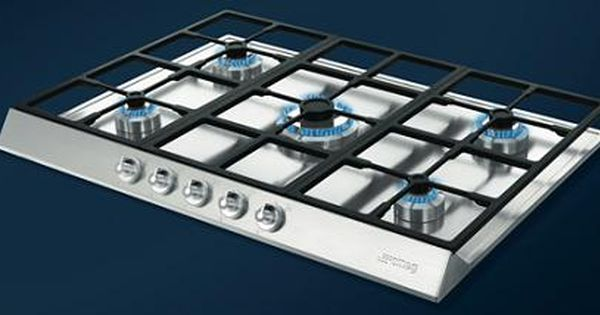 Smeg Pts725 Gas Hob Is Uniquely Designed With Extra Safe Suspended Pan Stands It Is Easy To Clean And Has 5 High Efficiency Burners Stain Gas Hob Hobs Smeg