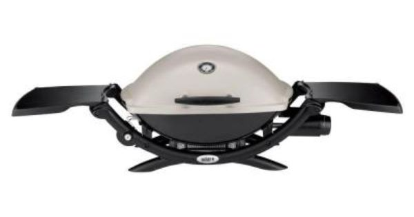 Weber Q 2200 1 Burner Portable Propane Gas Grill In Titanium With Built In Thermometer 54060001 Propane Gas Grill Gas Bbq Portable Grill