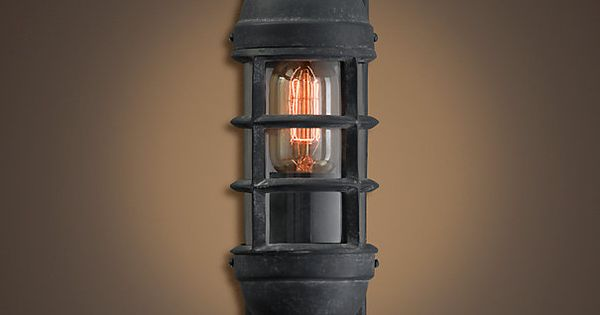 Trans Oceanic Sconce Weathered Zinc | Sconces, Wall lights