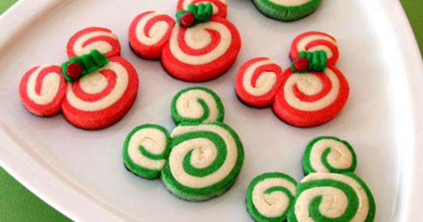 CREATE a DISNEY Christmas ideas post: Mickey & Minnie Peppermint Swirl Cookies