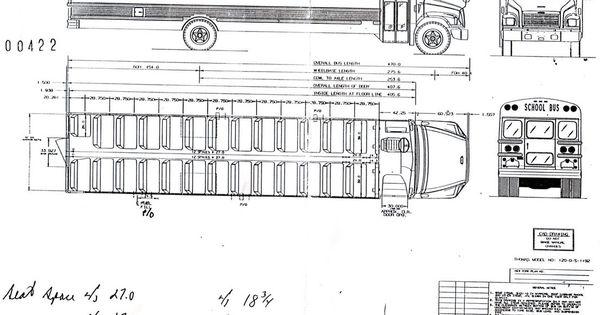 interior dimensions of a school bus