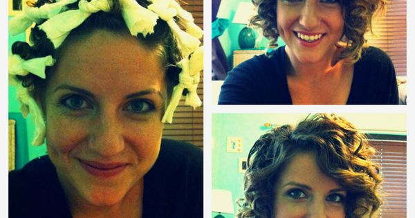 What?! Paper towel curls! Just roll your hair in paper towels after