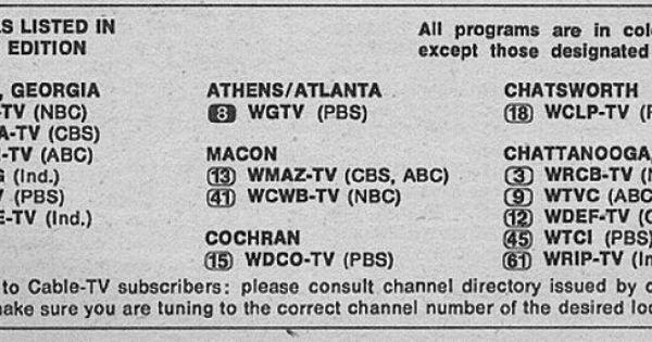 Georgia Edition October 28 1972 Tv Guide Tv Guide Listings North Georgia
