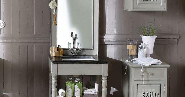 Meuble une vasque salle de bain saint r my maisons du - Maison du monde meuble salle de bain ...