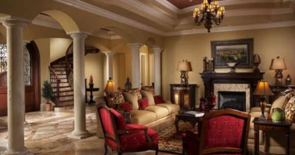 Mediterranean Home foyer living room Design Ideas, Pictures, Remodel and Decor