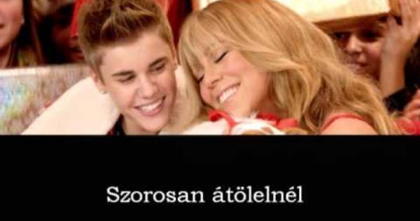 Justin Bieber Feat Mariah Carey All I Want For Christmas Is You Magya Mariah Carey Justin Bieber Mariah
