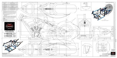 advice on motorcycle frame blueprints