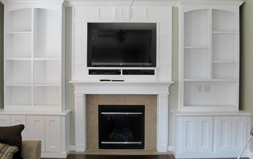 Replaced niche with built in cabinets