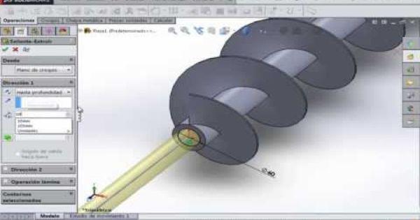 Tutorial Solidworks Como Diseñar Tornillo Sin Fin Endless