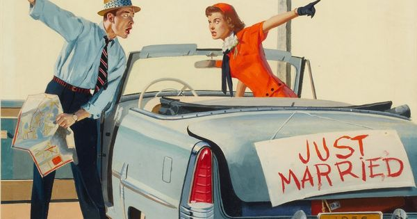 Wedding Paintings. Gordon Johnson - Just Married