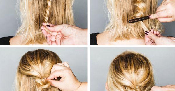Short Hair Updo Tutorial Hair Beauty At Repinned Net