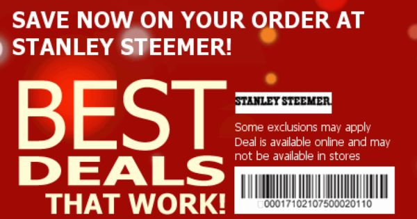 Stanley steamer coupon codes : there is a growing demand. However ...