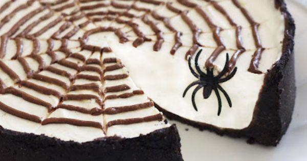 No-Bake Spiderweb Cheesecake | Halloween | Pinterest | Cheesecake, No ...