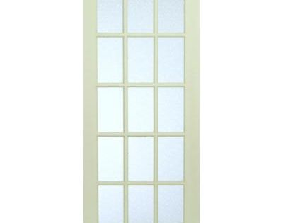Milette interior 15 lite french door primed with martele for 15 lite french door interior