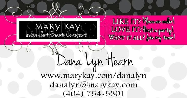 Mary Kay Business Cards Template Free