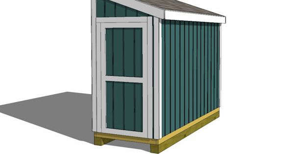 4x10 Lean To Shed Plans End Door Yard Pinterest