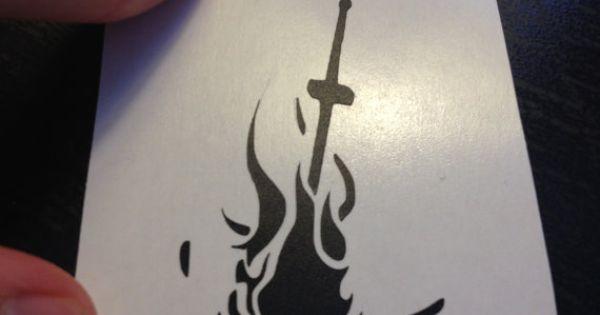 Dark Souls Bonfire Tattoo Design DMS Pinterest