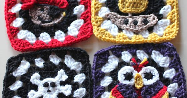 Repeat Crafter Me: Pirate Granny Squares Crochet Free Patterns